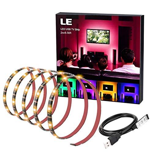 LE Tira LED, 2m 60 Led 5050 USB RGB Retroiluminación