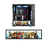 Vetroo Streetfighter Character Poster Display Board w/ LED Lights for Computer PC Case Decor Full HD 2K Multi-Mode Function 12.2' x 3.1' (Horizontal, B1)