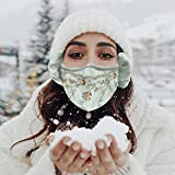 JUSHINI 1 Stück Winter Kältefeste Warme Mundschutz Mit Ohrenwärmer Für Erwachsene Outdoor Ohrenschützer Schutzstaub Atmungsaktive Mundbedeckung Schutzhülle Winddicht Bandana Halstuch