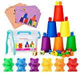 Neoformers Counting Bears with Matching and Sorting Cups, Preschool Math Learning and Colo...