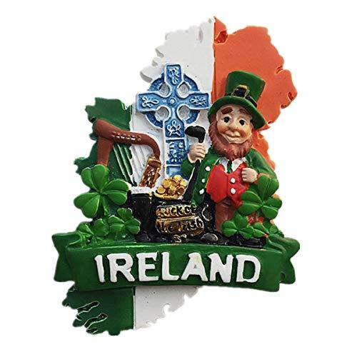 Irland 3D-Kühlschrankmagnet, Heim- und Küchendekoration, Magnetaufkleber, Irland-Kühlschrankmagnet, Reise-Souvenir, Geschenk