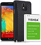 Note 3 Battery, YISHDA 7000mAh Extended Li-ion Replacement Galaxy Note 3 Battery & Black Back Cover & TPU Case Compatible with Samsung Note 3 N9000 N9005 N900A N900V N900P N900T