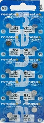 renata レナータ 364 (10個) 酸化銀ボタン電池(SR621SW)※スウォッチグループ/スイス製【正規国内代理店製品】