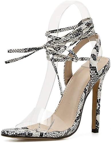 zapatos De Tacón Microfibra para mujer De Europa Y América, 11.5 Cm, Moda, Cruz Salvaje, Punta Abierta, Color A Juego, Sandalias De Tacón Alto