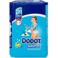 Dodot Splashers - 11 Pañales Bañadores Desechables, 9 a 15 kg, No Se Hinchan Y Fácil de Quitar, Talla 4