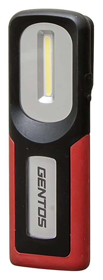 ウッズ肌丘GENTOS(ジェントス) 作業灯 LED ワークライト USB充電式 【明るさ260ルーメン/実用点灯3時間/防塵/防滴】 ガンツ GZ-102 ANSI規格準拠