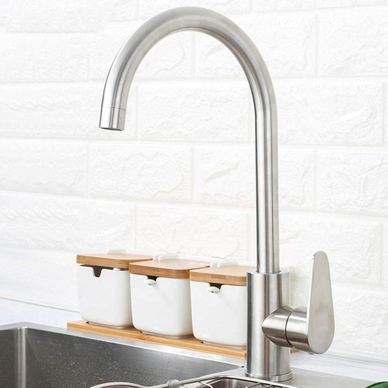 Gorheh 304 Edelstahl Einhand-Einlochmontage Küchenarmatur Spültisch Küchenarmatur Moderne Warm- Und Kaltwasser
