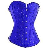 Cintura Adelgazante sólida para Mujer Cincher Slim Waist Shaper Korsett Overbust Satin Top Bustier
