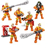 YEIBOBO ! City Mini Military Action Figure with Assistance Accessories (Fire Experts XJ-838)