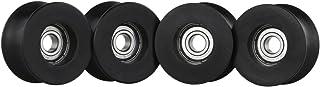 Haoge 4PCS U Groove Wheels for DIY Camera Dolly Rig Slider Rail Track Table Skater