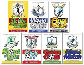 Dan Freedman Jamie Johnson Collection Set Football 7 Books Set, (Skills from Brazil, Final Whistle, Golden Goal, Kick Off, Man of the Match, Shoot to Win, World Class,