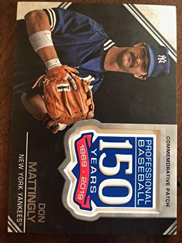 2019 Topps Series 2 150th Anniversary Commemorative Patch #AMP-DM Don Mattingly New York Yankees Official MLB Baseball Trading Card BLASTER EXCLUSIVE