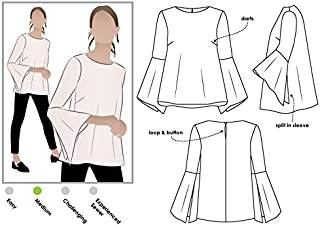 Style Arc Sewing Pattern - Harlow Top (Sizes 04-16) - Click for Other Sizes Available
