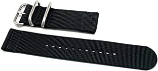 DaLuca Two Piece Ballistic Nylon Watch Strap - Black : 22mm