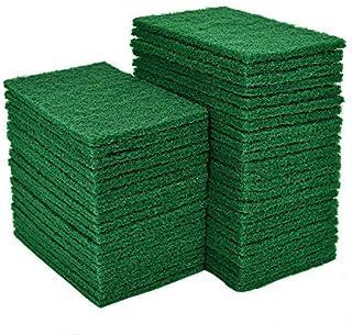 وسادة تجوب من يوليشي، 40 قطعة من وسادات تنظيف الأطباق، وسادات تنظيف منزلية خضراء مقاس 4.5 × 6 بوصة قابلة لإعادة الاستخدام ...