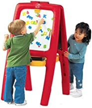 Step2 Easel for Two | Kids Double-Sided Art Easel with Magnetic Letters & Numbers | 94-Pc Accessory Set Included