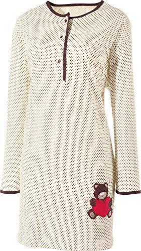 laritaM Nachthemd mit Applikation Single-Jersey creme Größe 44/46