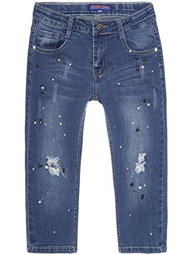 BEZLIT Mädchen Capri Jeans 3/4 Hose Destroyed 22672 Größe 104