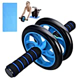 No Noise Ab Roller Wheel for Abdominal Exercise Muscle and Fitness Machine Trainer, Home Workouts Gym with a Knee Pad, Easy to Assemble
