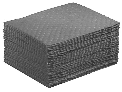 "NPS Spill Control 1AMGPL Airmatrix Polypropylene Heavy Weight Maintenance Universal Absorbent Laminated Pad, 18"" Length x 16"" Width, Gray (100 Per Bale)"