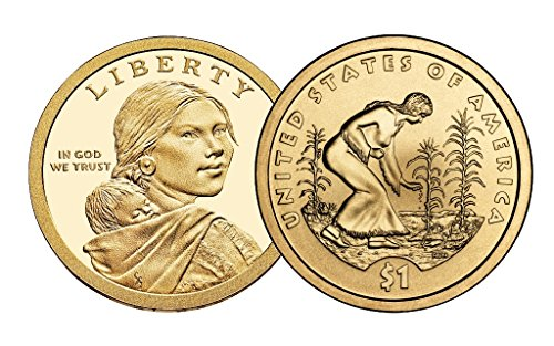 2009 P, D Native American (Sacagawea/Golden) Dollar 2 Coin Set Uncirculated