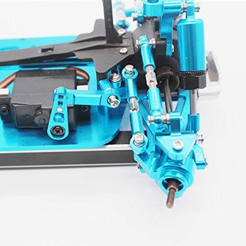 TOOGOO Servo Ruder Stange Metall Upgrade Rc Auto Teile für Wltoys A959-B A969 A979, Blau
