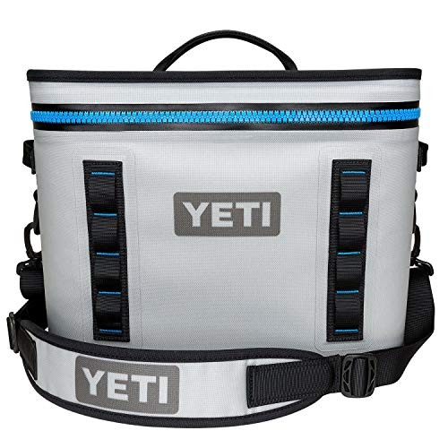 YETI Hopper Flip 18 Portable Cooler, Fog Gray/Tahoe Blue (Renewed)