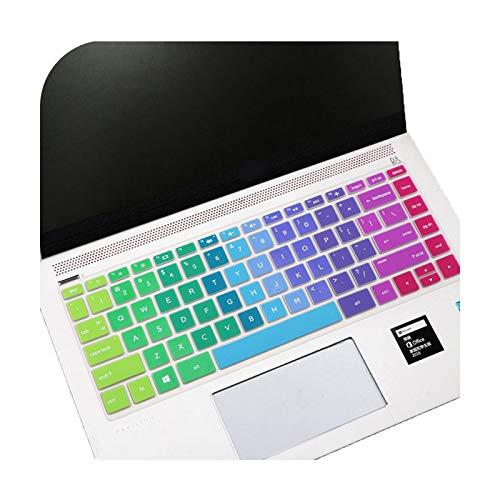 Keyboards 14 pulgadas para teclado Hp cubierta protector teclado pegatinas multicolor suave silicona impermeable película protectora para ordenador C