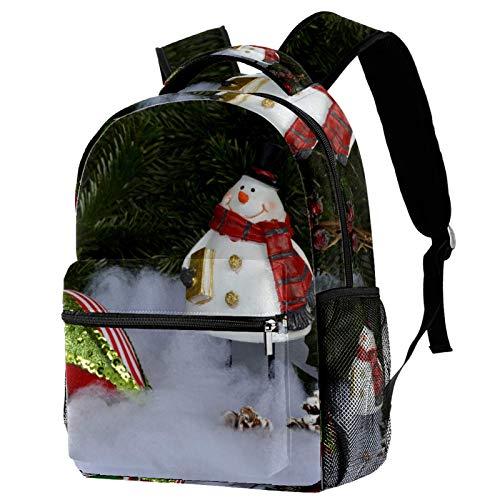 LORVIES - Piñón de nieve de muñeco de nieve, mochila casual con bandolera para mochila para estudiantes