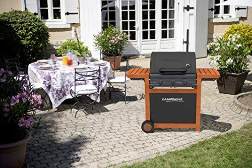 Campingaz Barbecue Gaz Adelaide 3 Woody L, 3 Brûleurs BBQ Gaz, Puissance 14kW, Grille et Plancha en...