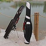 QinWenYan Angeltasche Rutentasche Edelstahl-Bauch Bauch Angelrute Tasche Fishing Gear Bag Leichte Angelrutentasche als Geschenk for Dad zum Angeln (Farbe : Black, Size : 120x20cm)