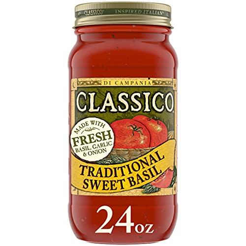 Classico Pasta Sauce, Traditional Sweet Basil, 24 oz