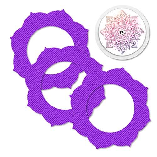 MySweetStitch   Pflaster für Freestyle Libre 1 & 2 Sensor wasserfest, atmungsaktiv und hautfreundlich inkl. Sticker mit Loch für Sensor im Set (3+1) Mandala - Mandala