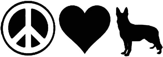YINGJUN 17.8x6.1CM Liefde van de vrede van de Duitse herder Car Stickers Creative Window Cartoon Decals Zwart/Zilver C6-14...
