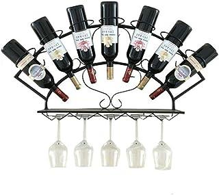 ZLJ 7 Bouteilles Iron Art casier à vin Support Mural Porte-Bouteille de vin Support de Rangement de Cuisine