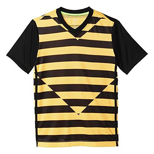 adidas YB LR P BR Camiseta, Niños, Amarillo/Negro (Dorsol/Negro/Negro), 152