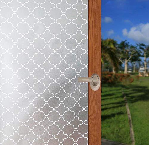 Arthome Fensterfolie Milchglasfolie Sichtschutzfolie Statische Folie Selbsthaftend Dekorfolie 45x254cm