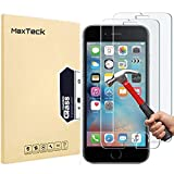 MaxTeck [3 Pièces] Verre Trempé pour iPhone 6S 6, Film Protection en Verre trempé écran...