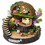 Jeffergrill DIY Artisanat Forêt Maison Style Maison de poupée Kit Modèle Miniature pour Enfants, ami comme décor à la Maison ou Cadeau