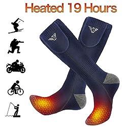 NIUB5 Beheizte Socken, Heizsocken für Männer und Frauen, Beheizte Socken für Wintersport/Motorradfahren/Skifahren