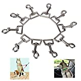 KingSaid 10 x 25mm Heavy Duty Square Eye Snap Swivel Trigger Hooks/<span class='highlight'><span class='highlight'>Clip</span></span>s for Dog Leads