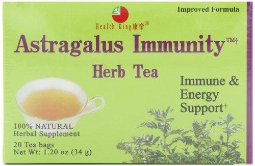 Health King Astragalus Immunity Herb Tea, Teabags, 20-Count Box (Pack of 4)