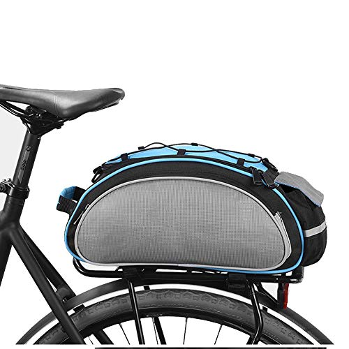 Roswheel Bicycle Bag Multifunction 13L Bike Tail Rear Bag, Saddle Cycling Bicicleta Basket Rack Trunk Bag Shoulder Handbag - Blue