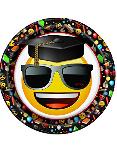 8 Assiettes en carton Emoji - taille - Taille Unique - 239711