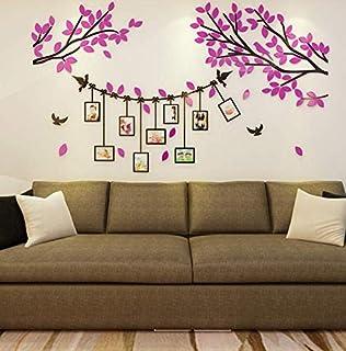 3d wall stickers acrylic photo wall photo frame tree wall warm decoration self-adhesive wall decoration wall stickers - xsq