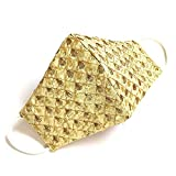 Febric: 100% Cotton Silk, PACK OF 1 Work : embroidered, Lase work Colour: GOLDEN, Use for: Wedding , Festival, Casual, Party etc. Manufactured in India with high quality 100% cotton silk fabric, these masks are designer base party wedding and functio...