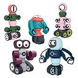 LAOZI 5pcs / Set DIY Robots magnéticos, Bloques de imanes de Juguete para niños, Juego Educativo para niños y niñas