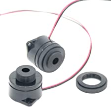 Homyl 12V 24V Active Buzzer DC Buzzer Electronic Alarm Continuous Beep Output Frequency : 2,900 ± 500 Hz