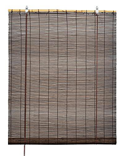 Estor Enrollable 100% Bambú (Chocolate, 60_x_180_cm)