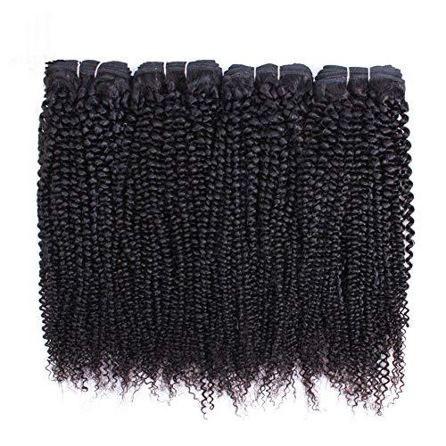 Vrai Cheveux Rideau De Cheveux Noir Naturel, Afro Kinky Curly Hair, Extension De Cheveux Vivants Épais De Haute Qualité Naturelle Double Trame,20inch